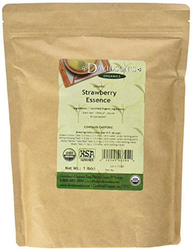 Davidson's Tea Bulk, Strawberry Essence, 1 lb Bag