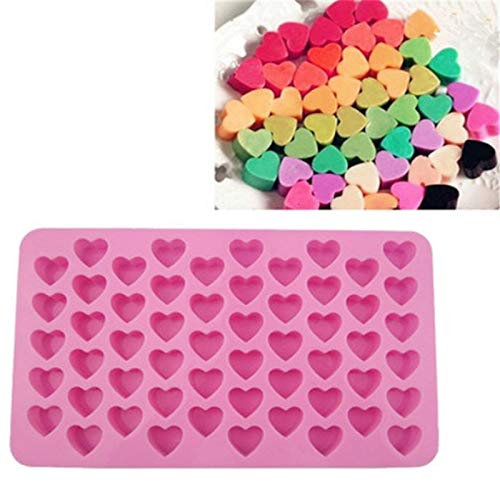 1 pcs 55 Holes Small Heart Mold Silicone 3D Lovely Cute Heart Fondant Mold Ice Cake Chocolate Craft Cake Decorating Tools