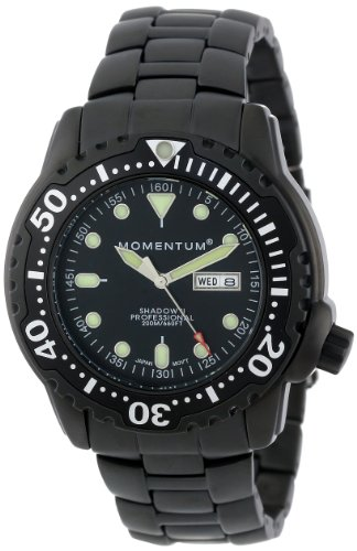 Momentum Men's 1M-DV86B0 Shadow II Black PVD Steel Bracelet Watch