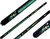 McDermott Lucky L65 Leprechaun Grapic Green Yellow on Black Pool/Billiard Cue