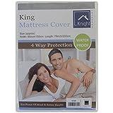 KNIGHT King Funda de colchón, 150cm x 200cm, Color Blanco