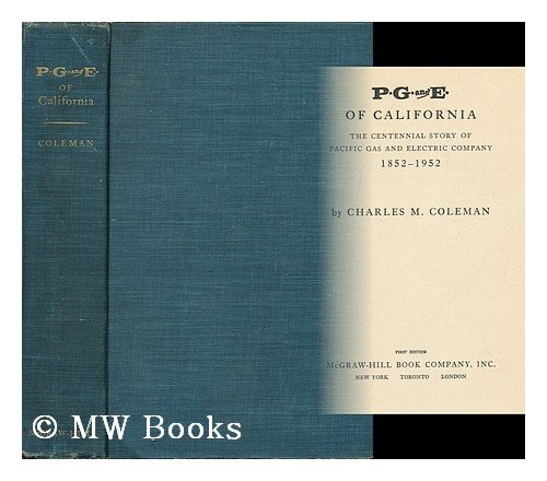P.G. and E. of California: The Centennial Story of for sale  Delivered anywhere in USA