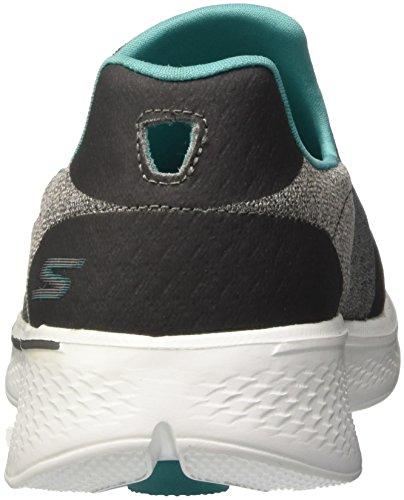 Go Turquoise Enfiler Gris Baskets 4 Walk Skechers Femme Grey dza8q6dw