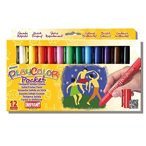 Jack Richeson 2510521 Playcolor 12 Standard Colors, Thin