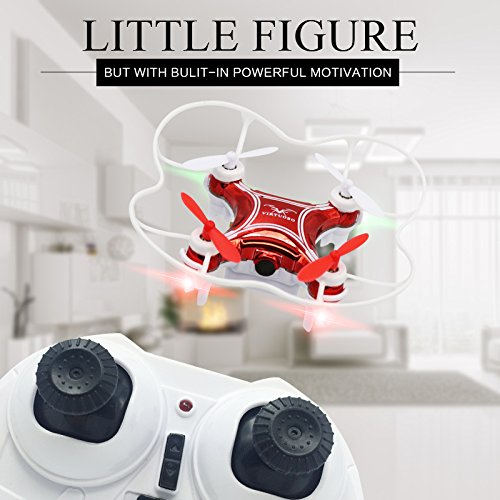 Virtuoso Mini Drone With Lights For Kids – Palm Sized RC Quadcopter Toy With 2.4G 4-Channel Remote Control, 6 Axis Gyro, Headless Mode, 360°Flip, Speed Control –Easy One Key Start/Landing