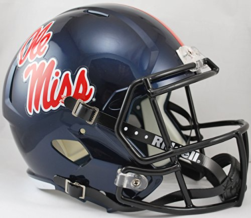 NCAA Mississippi Old Miss Rebels Full Size Speed Replica Helmet, Red, Medium by Riddell