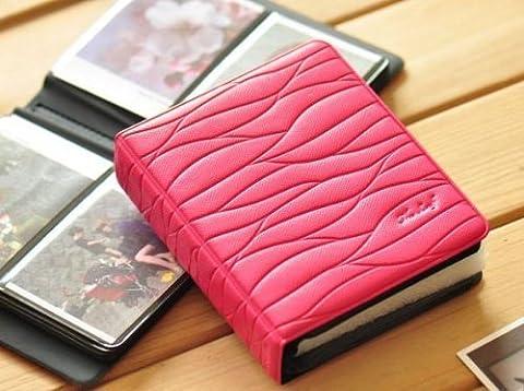 CLOVER Colorful Leaf Pattern 64 Slots Album Mini Book Album For Polaroid Fujifilm Fuji Instax mini 7s 8 9 25 50s 90 Film -- Rose