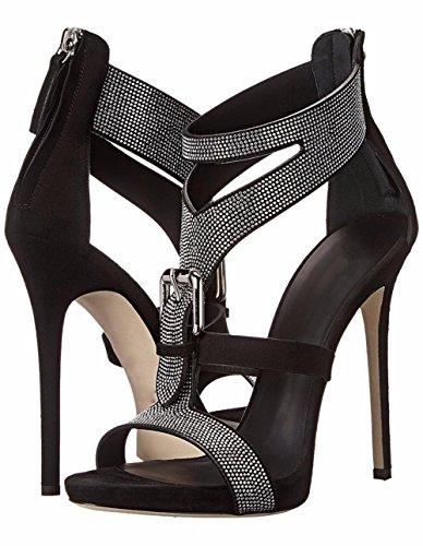 45 Haute blanc Fête Des Black club Mariage de Sangle Diamante Stylet 35 Grand Bal Femmes sandales Chaussures promo Talon Taille Noir Cheville 5aqRnwOF