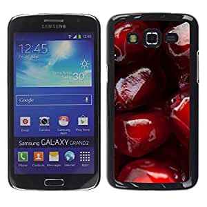 Exotic-Star ( Love Cherry ) Fundas Cover Cubre Hard Case Cover para Samsung Galaxy Grand 2 II / SM-G7102 / SM-G7105
