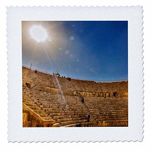 nt - Ruins - Ancient Roman Amphitheater, South Theater, Jerash, Jordan. - 12x12 inch quilt square (qs_276931_4) ()