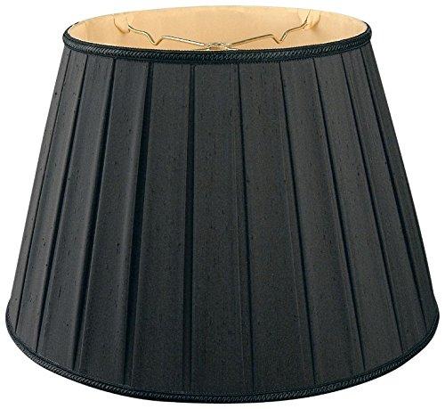Royal Designs Round Pleated Designer Lamp Shade, Black 11 x 18 x 12
