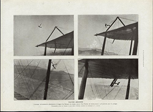 Aerial Acrobatics Airplane Stunts Loops Biplane Fascinating 1917 vintage print