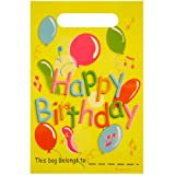 Plastic Happy Birthday Loot / Birthday Party Bags (Pack of 12)