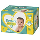 : Diapers Size 2, 186 Count - Pampers Swaddlers Disposable Baby Diapers, ONE MONTH SUPPLY