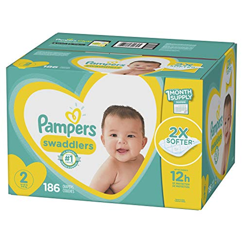 Pampers Swaddlers Diapers Size 2 186 Count