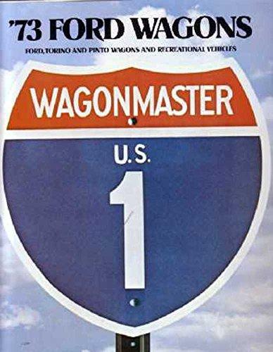 (1973 Ford Ranchero Station Wagon Sales Brochure Literature Piece Options Book)