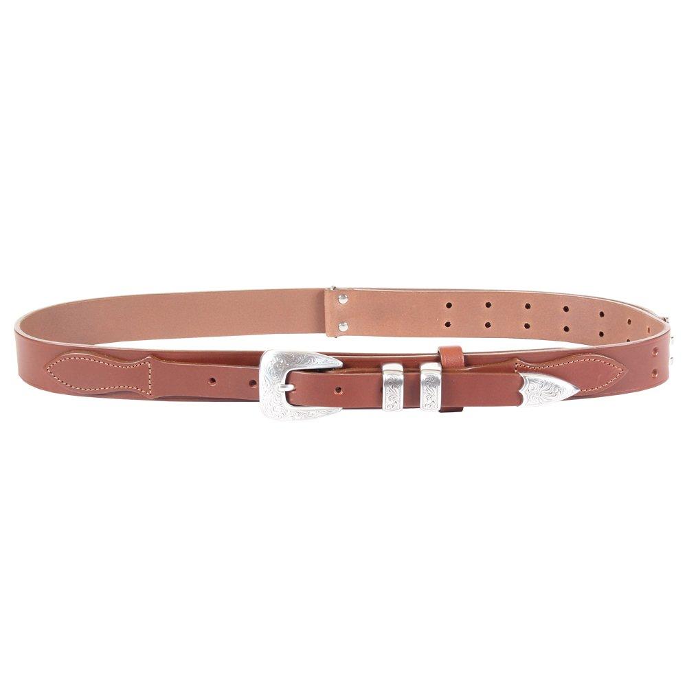 fe99039adb5 Brown Leather Mens Ranger Belt Adjustable No. 2 Nickel Buckle ...