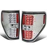 Full LED Tail Light Brake Lamps Replacement for Ford F150 94-14, Driver and Passenger Side, Black Housing Smoked Lens