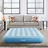 Broyhill Sleep Express Comfort Top Coil Air Bed Mattress with External Pump, 10' Full