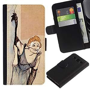 All Phone Most Case / Oferta Especial Cáscara Funda de cuero Monedero Cubierta de proteccion Caso / Wallet Case for Samsung Galaxy S3 III I9300 // Smoking Old Woman Dress Funny
