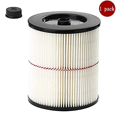 ANBOO VAC Filter Fit Craftsman 17816 9-17816 Replacement Wet Dry Vacuum Air Cartridge Filter for Shop Vacuum Cleaner 1 Pack