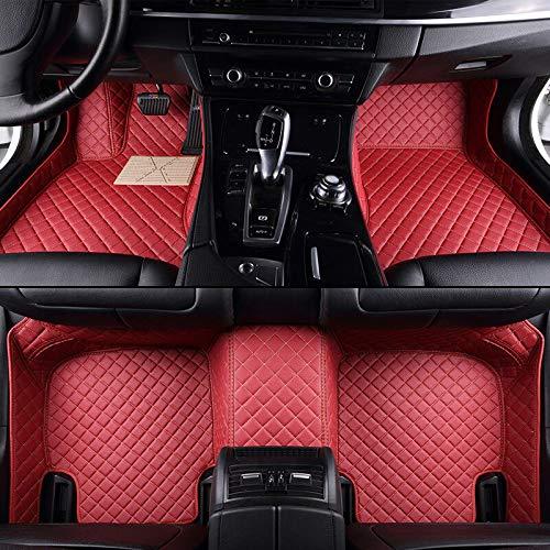 FidgetKute 8 Colors Car Floor Mats Front & Rear Liner Mat for Alfa Romeo Giulia Stelvio red