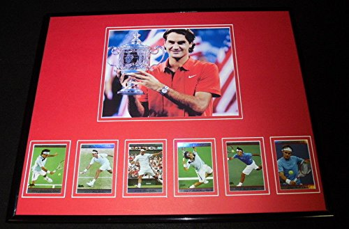 Roger Federer Framed Photo (Roger Federer Framed 16x20 Photo & Card Set Display)