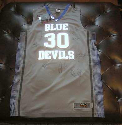 092bab7fccb8 Duke Blue Devils Team Signed Nike Hyper Elite Platinum Jersey Coa + Proof  Rare - Autographed College Jerseys at Amazon s Sports Collectibles Store