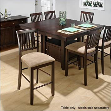 Amazoncom Jofran Counter Height Dining Table With Butterfly - Counter height dining table with leaf