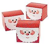 1 Dozen - Santa Gift Treat Boxes - Christmas Santa Claus Boxes for Presents and Candy