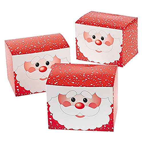 1 dozen santa gift treat boxes christmas santa claus boxes for presents and candy - Christmas Candy Boxes
