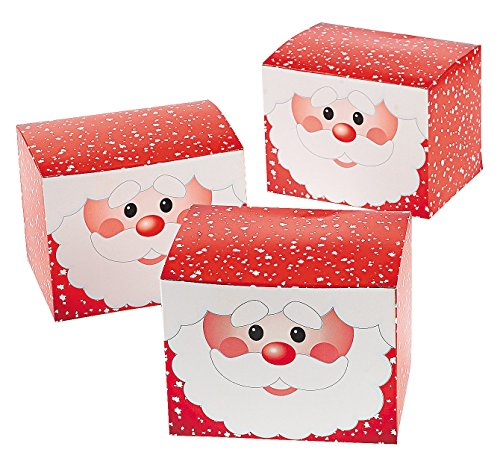 Treat Boxes - Christmas Santa Claus Boxes for Presents and Candy (Christmas Candy Gift Box)