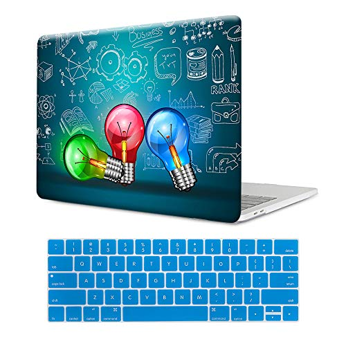 MTAOTAO Plastic Pattern Colorful Creative Bulb Hard Shell Case with Keyboard Cover for MacBook Pro 15 A1286 (Case 15 Pack Bulb)