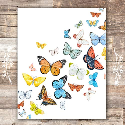 Butterfly Wall Art Print - Unframed - 8x10   Butterfly Wall Decor for $<!--$9.97-->