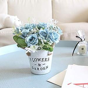 XGM GOU Flowers Garden Artificial Flowers with Flowerpot Vase Pot Peony Bouquet for Wedding Decoration Home Decor Drop Shopper G0010 68