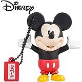 Tribe Disney Mickey Mouse (Topolino) Chiavetta USB da 8 GB Pendrive Memoria USB Flash Drive 2.0 Memory Stick, Idee Regalo Originali, Figurine 3D, Archiviazione Dati USB Gadget in PVC con Portachiavi - Multicolore