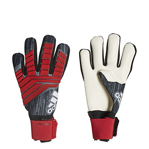 (adidas F1806GL015 Predator Pro Junior Soccer Gloves, Black/Red/White, Size 4)