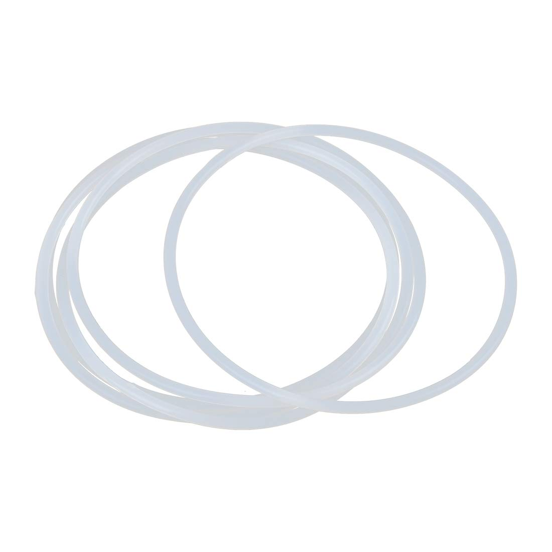 X AUTOHAUX 5pcs White Silicone Rubber O-Ring Seal Gasket for Car 95mm x 3.1mm