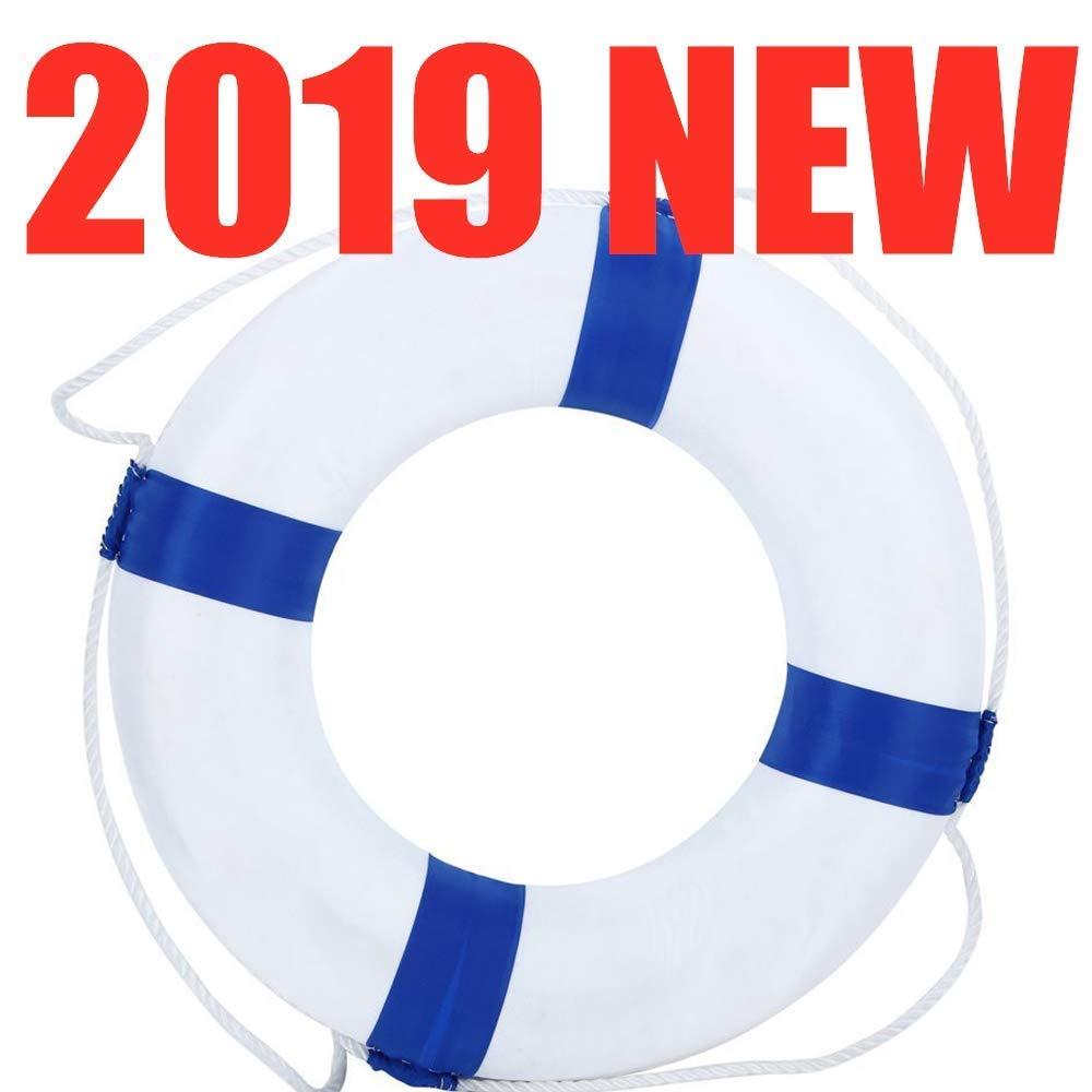 Jatzde HBMLR Lifebuoy 52cm 20.5inch Diameter Welcome Cloth Decorative Life Ring Buoy Home Wall Nautical Decor Blue by Jatzde