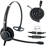 Professional Single Ear Noise Canceling Call Center/Office Headset & Adapter For ALL Cisco 6000, 7800 and 8000 series phones and also models 7931 7940 7941 7942 7945 7960 7961 7962 7965 7970 7975