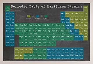 product image for Periodic Table of Marijuana Strains Poster (36 x 24) (Simply Poly Frame (White))
