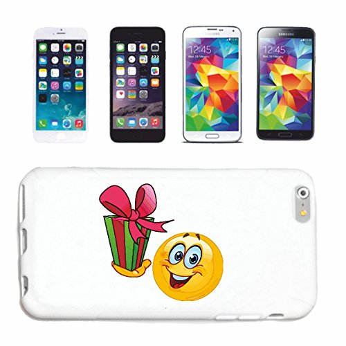 "cas de téléphone Samsung Galaxy S4 Mini ""MERRY SMILEY AVEC CADEAU ""smile EMOTICON APP de SMILEYS SMILIES ANDROID IPHONE EMOTICONS IOS"" Hard Case Cover Téléphone Covers Smart Cover pour Samsung Galaxy"