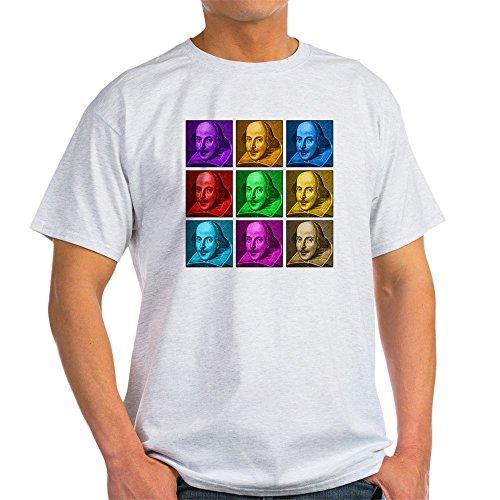 CafePress Shakespeare Pop Art Light T-Shirt 100% Cotton T-Shirt Ash Grey