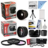 Canon Powershot A570 A590 Ultimate 15 Piece Lens Kit Package Includes 0.20X Super Wide Angle Fisheye lens, 5 PC Close-Up Set (+1, +2,+4 with 10X Macro Lens) , 2.2x HD AF Telephoto Lens + 3 Piece Pro Filter Kit (UV, CPL, FLD) + Tube Adapter + Deluxe Lens Cleaning Kit + LCD Screen Protectors + Mini Tripod + 47stphoto Microfiber Cloth Photo Print !