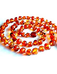 Baltic Amber Necklace Women / Cognac Baroque Beads / Healing Amber Necklace / Certified Genuine Baltic Amber