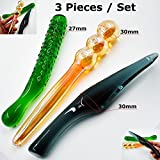 Clearance Sale 3 Pieces Colorful Pyrex Glass Dildos Fake Penis Female Male Masturbation Sex Toys Set for Women Men Gay Adult Anal Products
