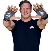 Bear KompleX 3-Loch Carbon Hand Grips für Gymnastik, Crossfit, Klimmzüge & Gewichtheben - Pull Up Grips für mehr Komfort & perfekten Halt - idealer Handschutz vor Rissen & Blasen - Damen & Herren