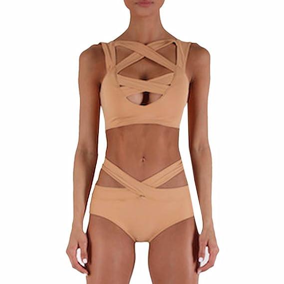 dd03d2b643e3 QIYUN.Z Banador 2Pcs Pieza De Empuje hacia Arriba Bikini Atractivo De Bano  Las Mujeres Playa del Traje De Bano del Verano