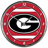 NCAA Georgia Bulldogs WinCraft Official Chrome Clock