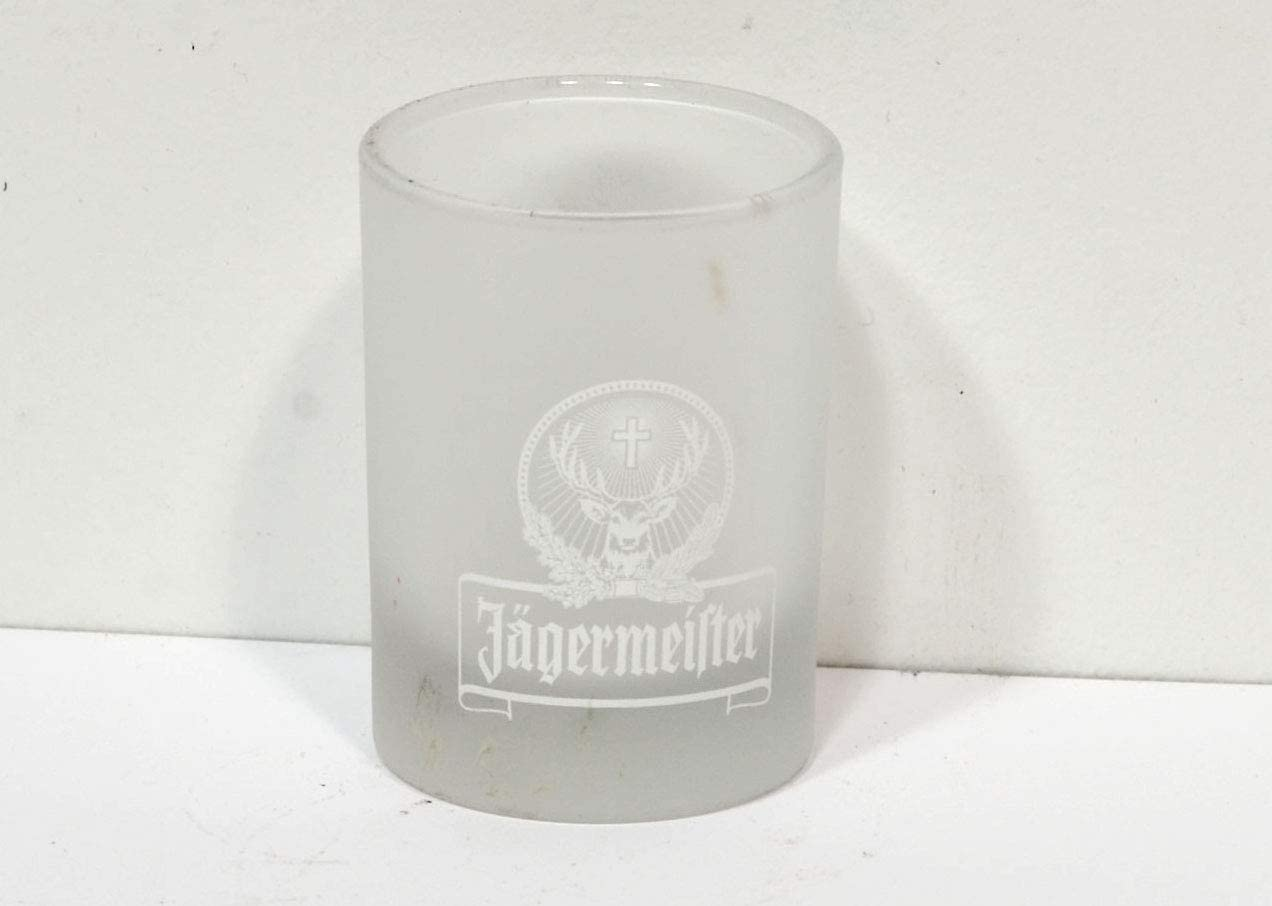 Set of 2 Jagermeister Stag Logo Frosted 2 cl Shot Glasses